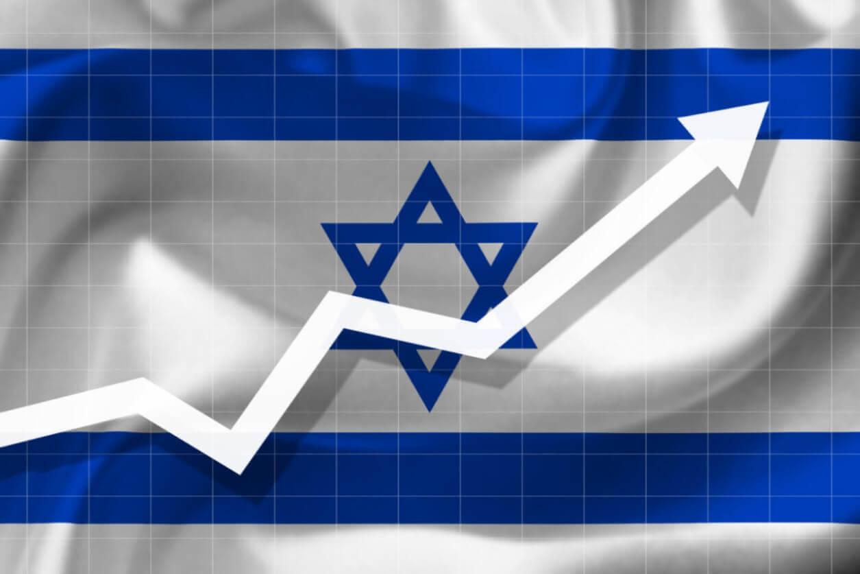 דגל ישראל גרף עולה dreamstime